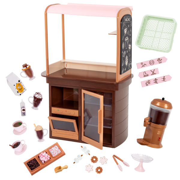 Choco-Tastic Hot Chocolate Stand for 18-inch Dolls