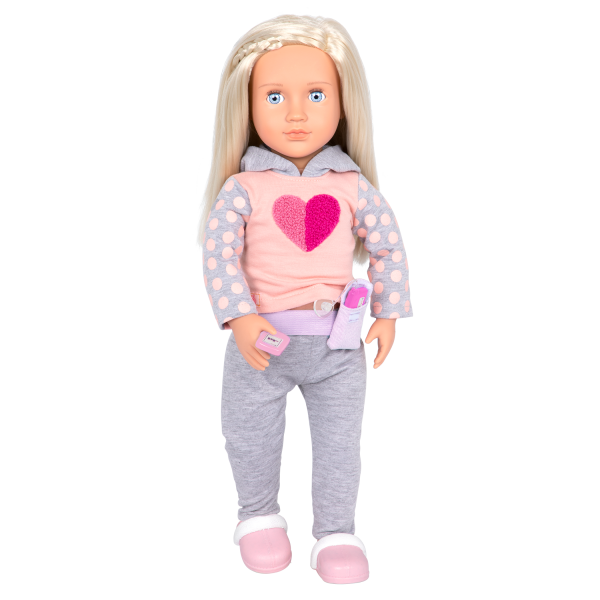"""Sweet Treatment Diabetic Care Set with 18"""" Doll Martha"""