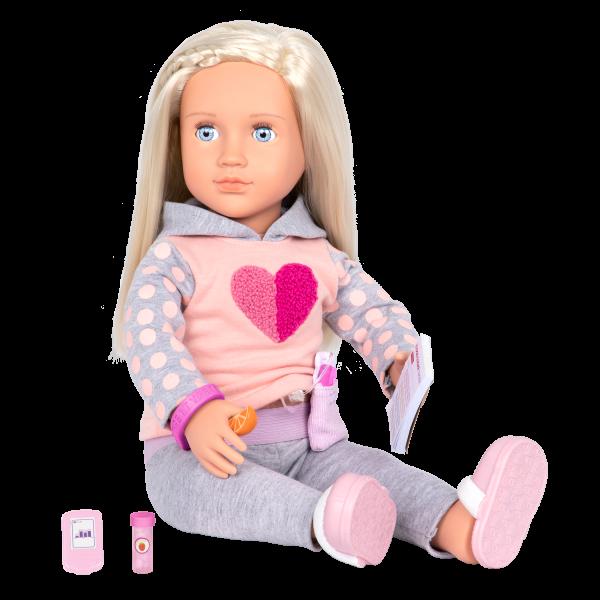 "Sweet Treatment Diabetic Care Accessory Set & Poseable 18"" Doll Martha"