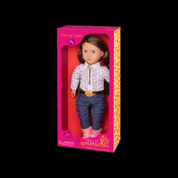 Darcy-Lynn 18-inch Riding Doll Packaging