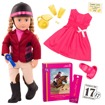 Lily Anna Deluxe 18-inch Riding Doll with Storybook