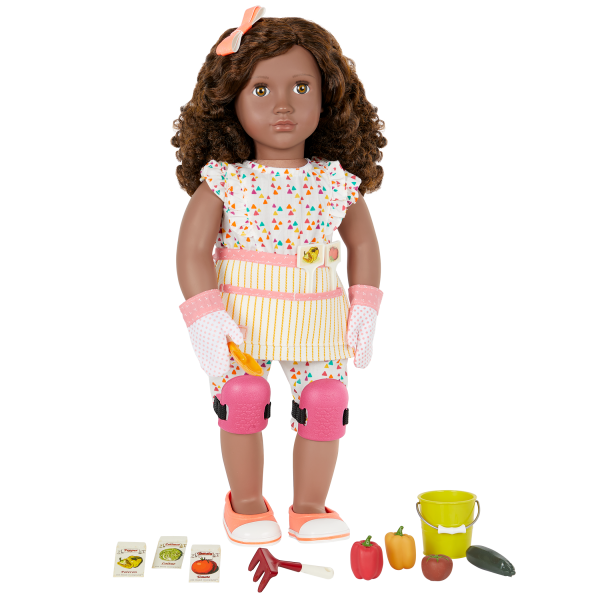 Nahla Posable 18-inch Doll and Garden Accessories