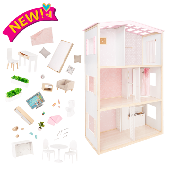 OG Sweet Home Dollhouse & Furniture Playset