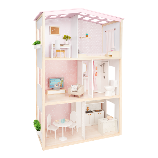 OG Sweet Home Dollhouse Furniture Styling Accessories Playset for 18-inch Dolls