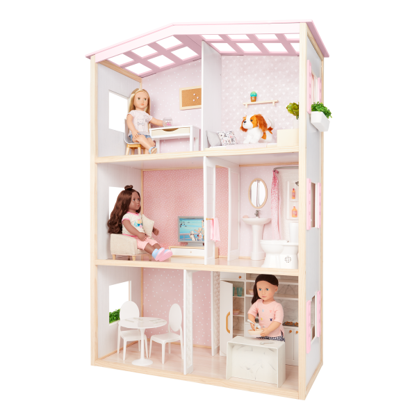 OG Sweet Home Dollhouse & Furniture Accessories for 18-inch Dolls