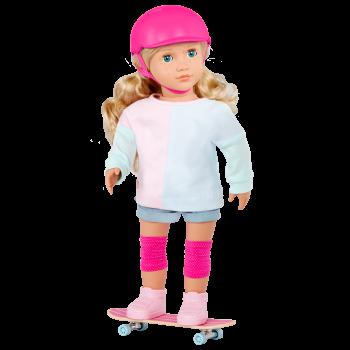 Our Generation 18-inch Skateboarder Doll Yanika