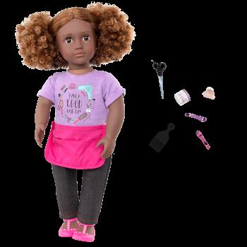 Our Generation 18-inch Hairdresser Doll Ashanti