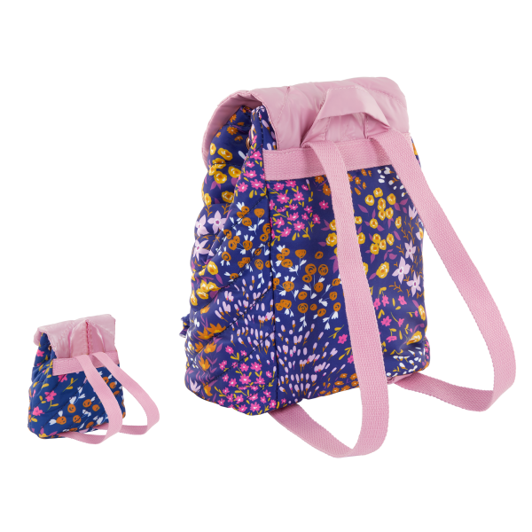 Our Generation Me & You Floral Backpacks Pink Straps for Kids & 18-inch Dolls
