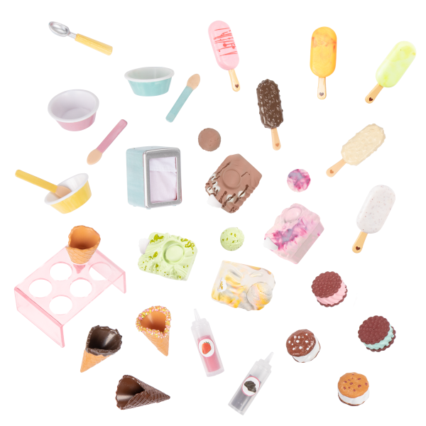 Two Scoops Ice Cream Cart Play Food Accessories