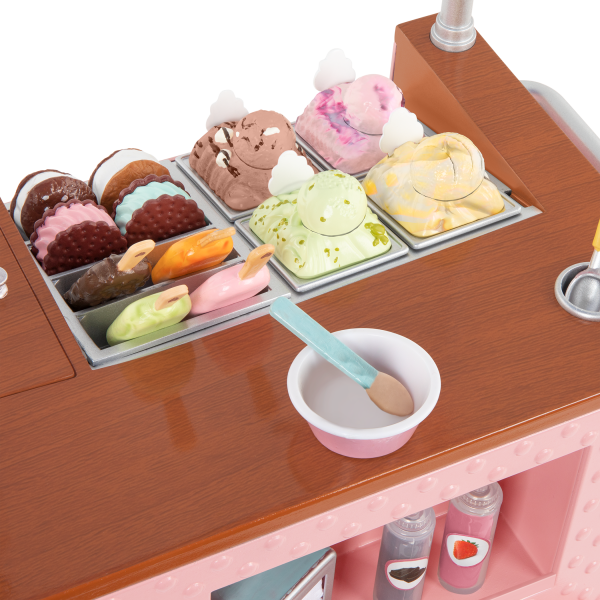 Two Scoops Ice Cream Cart Playset Accessories