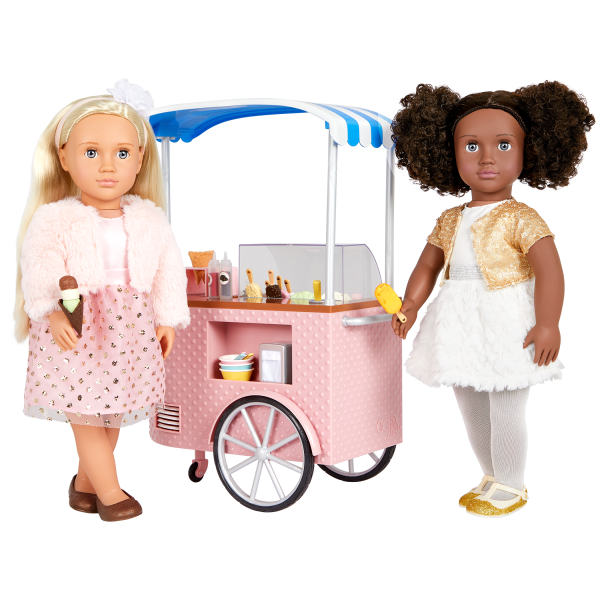 Two Scoops Ice Cream Cart Playset for 18-inch Dolls Millie Haven