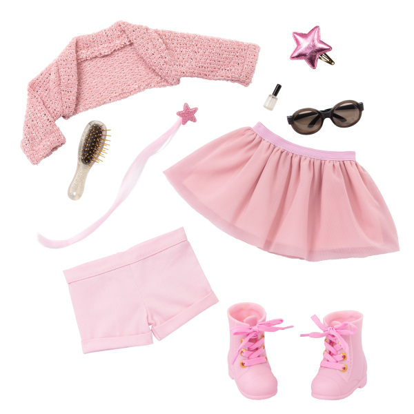 Our Generation Fashion Starter Kit & 18-inch Doll Stella Jewelry Accessories