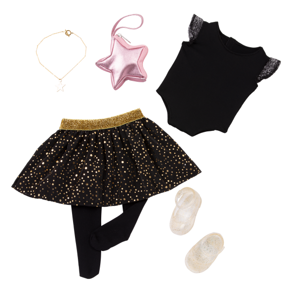 Our Generation Fashion Starter Kit & 18-inch Doll Stella Changeable Outfits