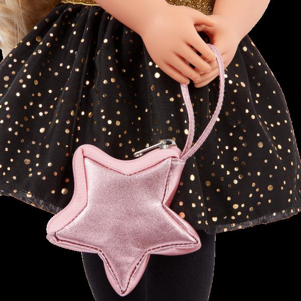 Our Generation Fashion Starter Kit & 18-inch Doll Stella Pink Star Purse