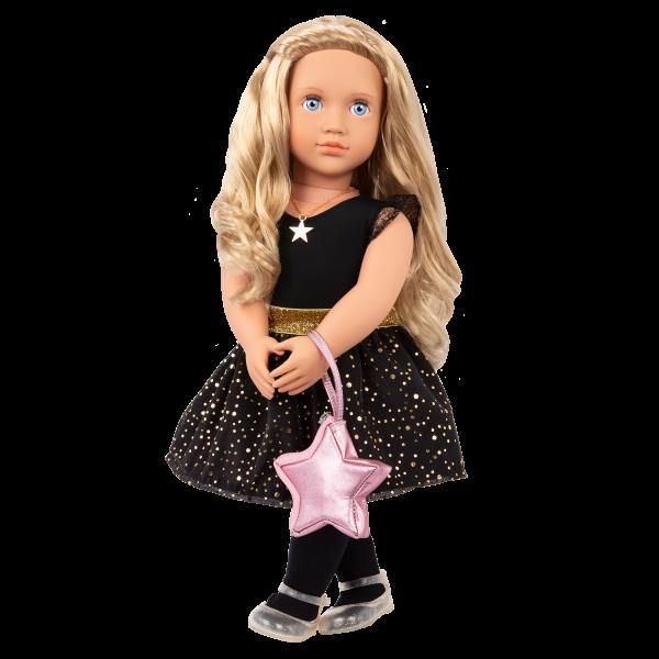 Our Generation Fashion Starter Kit & 18-inch Doll Stella Black Dress