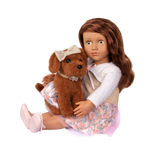 Our Generation 18-inch Doll Camelia Brown Hair Green Eyes