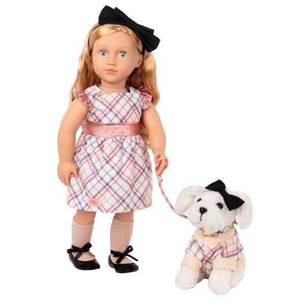 Our Generation 18-inch Doll Callista & Pet Dog Plush Styles Matching Outfit