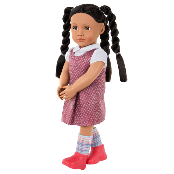 Our Generation 18-inch School Doll Frederika Braided Hairstyle