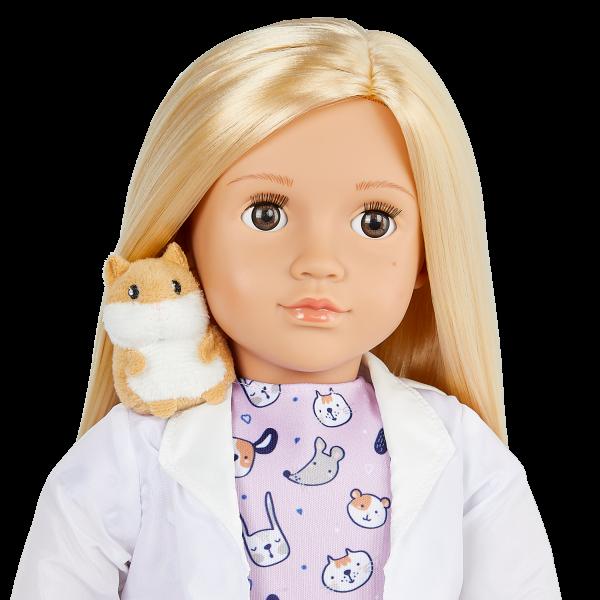 Our Generation 18-inch Vet Doll Noemie Blonde Hair & Brown Eyes