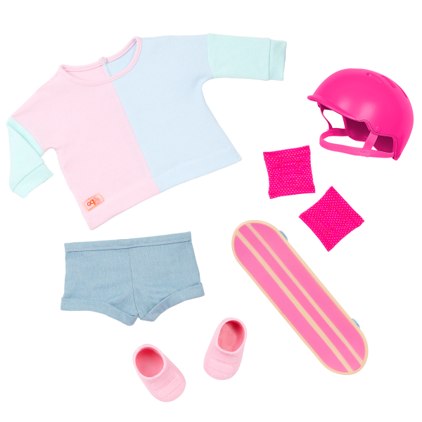 Our Generation 18-inch Skateboarder Doll Yanika Outfit