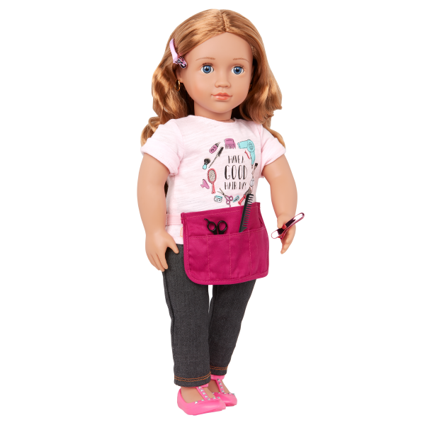 Our Generation 18-inch Hairdresser Doll Sabrina Red Hair Blue Eyes