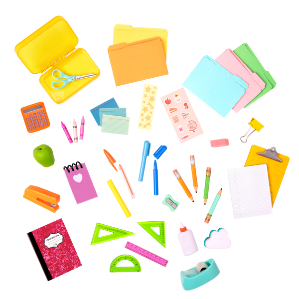 Our Generation Flying Colors School Desk Set Accessories