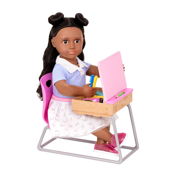 Our Generation Flying Colors School Desk & Doll Macy