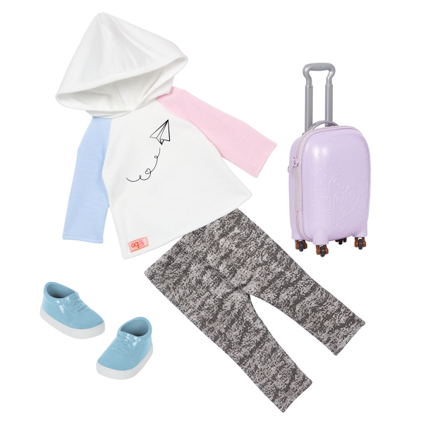 Our Generation 18-inch Travel Doll Ari Outfit & Accessories