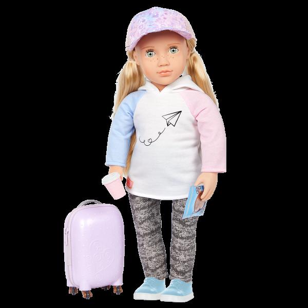 Our Generation 18-inch Travel Doll Ari Blonde Hair Green Eyes