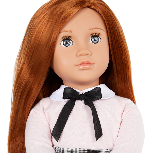 Our Generation 18-inch School Doll Carly Red Hair Blue Eyes