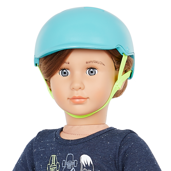 Our Generation 18-inch Skateboarder Doll Theodore Brown hair Blue Eyes