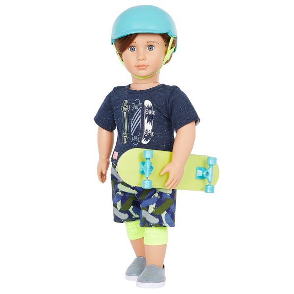 Our Generation 18-inch Skateboarder Doll Theodore Helmet Accessory