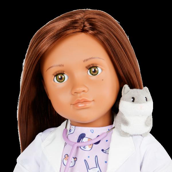 Our Generation 18-inch Vet Doll Daya Brown Hair & Hazel Eyes