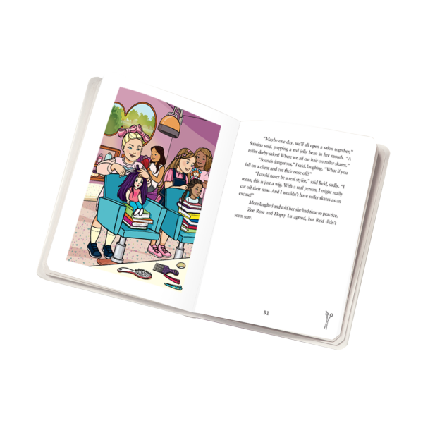 Our Generation Storybook Hair Salon Secrets Colorful Illustrations