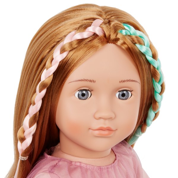 Our Generation 18-inch Posable Hairdresser Doll Drew Brown Hair & Colorful Braids
