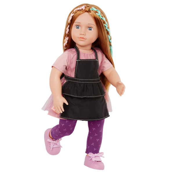 Our Generation 18-inch Posable Hairdresser Doll Drew & Stylist Apron