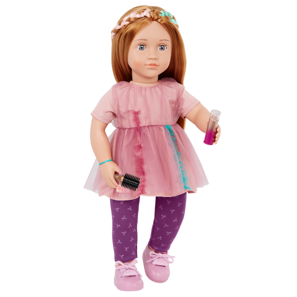 Our Generation 18-inch Posable Hairdresser Doll Drew & Hairbrush