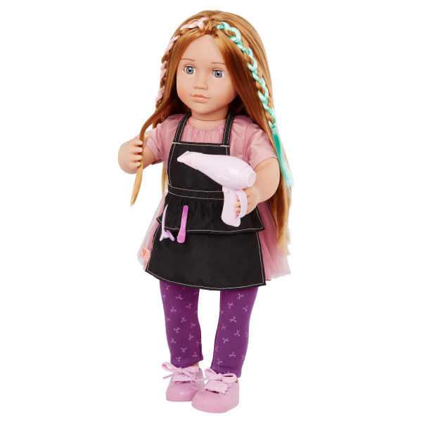 Our Generation 18-inch Posable Hairdresser Doll Drew  & Blow Dryer Accessory