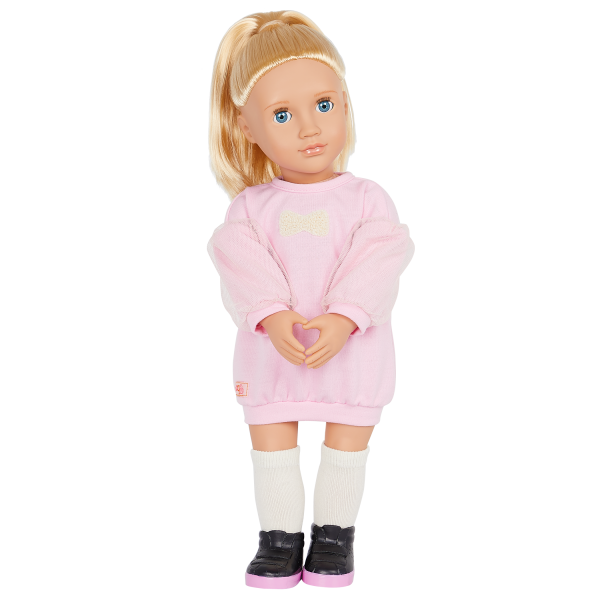 Our Generation 18-inch Fashion Doll Reid Pink Sweater Dress