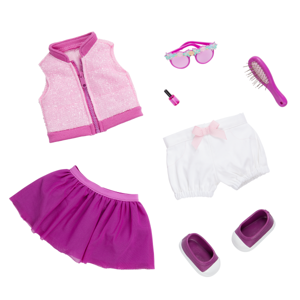 Our Generation Fashion Starter Kit & 18-inch Doll Rosalind Accessories
