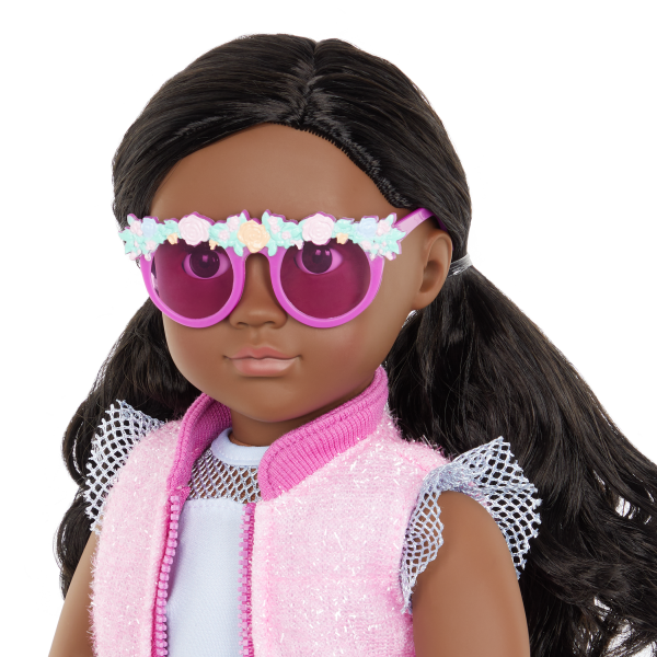 Our Generation Fashion Starter Kit & 18-inch Doll Rosalind Floral Sunglasses
