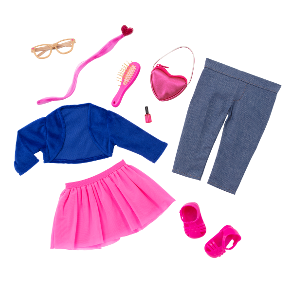 Our Generation Fashion Starter Kit & 18-inch Doll Amora Jewelry Accessories