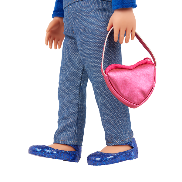 Our Generation Fashion Starter Kit & 18-inch Doll Amora Heart Purse