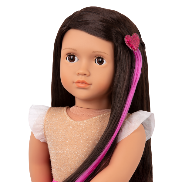 Our Generation Fashion Starter Kit & 18-inch Doll Amora Hair Extension