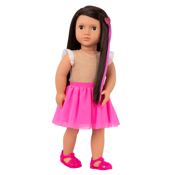 Our Generation Fashion Starter Kit & 18-inch Doll Amora Changeable Outfits