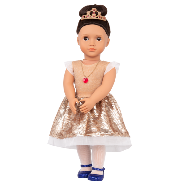 Our Generation Fashion Starter Kit & 18-inch Doll Amora Sequin Dress