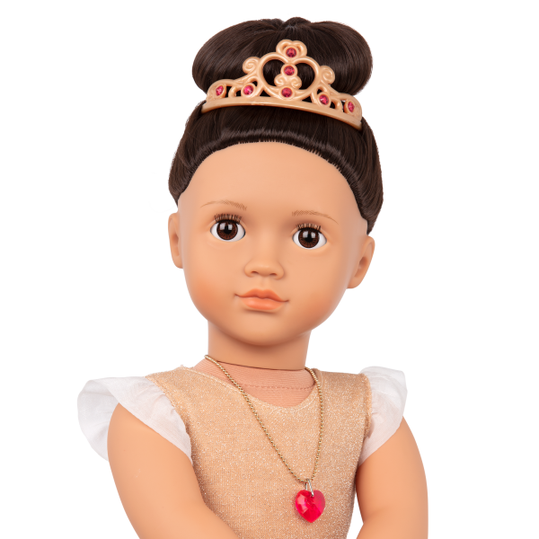 Our Generation Fashion Starter Kit & 18-inch Doll Amora Brown Hair