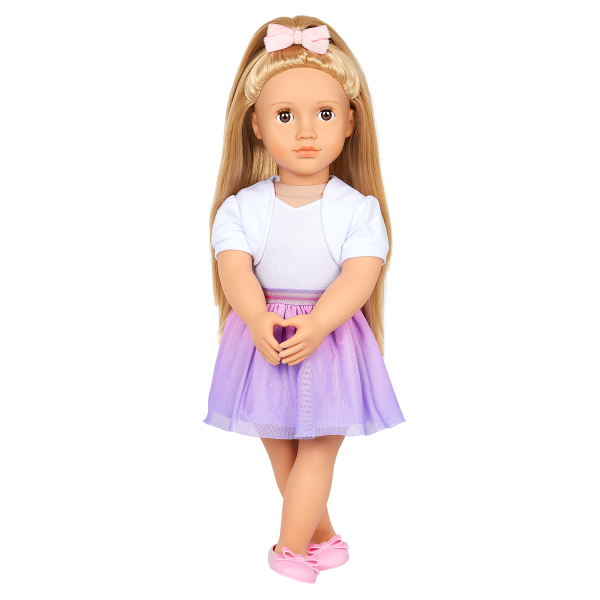 Our Generation 18-inch Fashion Doll Thea Purple Skirt Outfit