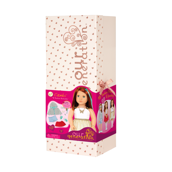 Our Generation 18-inch Fashion Doll Cambi Gift Box Packaging