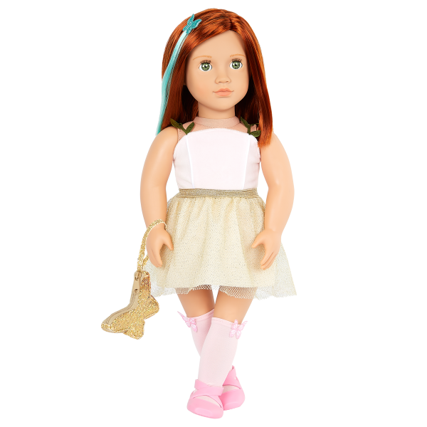 Our Generation 18-inch Fashion Doll Cambi Golden Skirt Outfit & Butterfly Purse